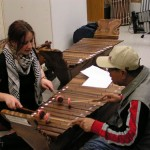 Student studies Sundanese xylophone with Nano S.