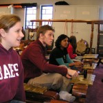 Students study Gamelan in Musics of Southeast Asia course