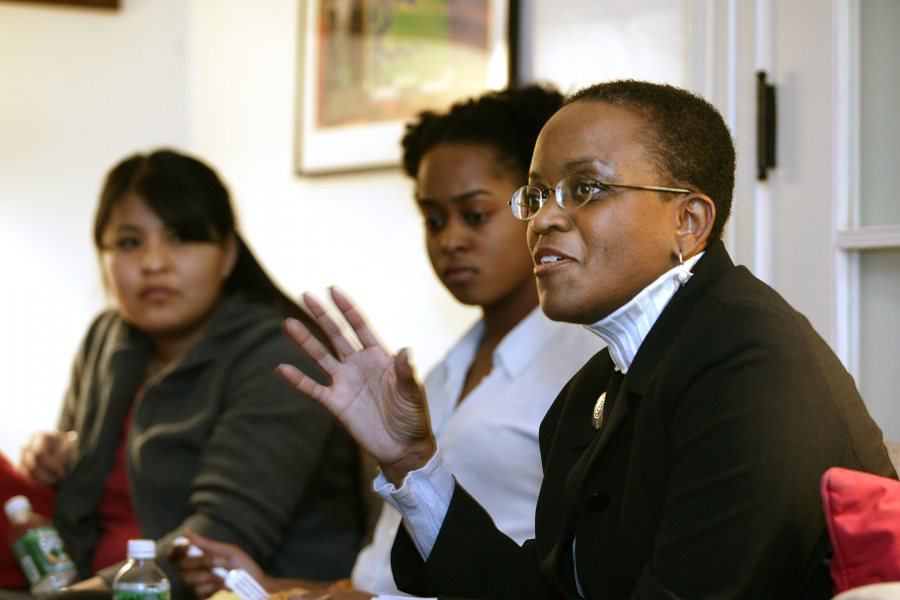 Valerie Smith '75, photographed at Bates in 2004. (Phyllis Graber Jensen/Bates College)