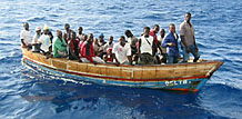 Haitians on a Boat