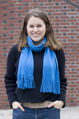 Amanda Harrow '06 of Hopkinton, Mass., winner of the 2006 William Stringfellow Award (recognizing a Bates student for participation in peace and social justice causes) and a 2006 Watson Fellowship for which she receives $25,000 to study child protection practices in New Zealand, Uganda, Sweden, and Peru.