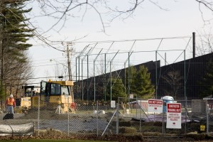 Taken Dec. 5, this image shows the construction site for the new Commons. In the background is Merrill Gym.