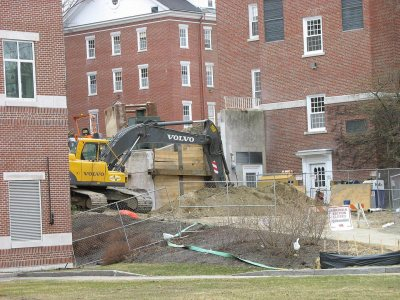 The site of the future amphitheater. (Doug Hubley/Bates College)