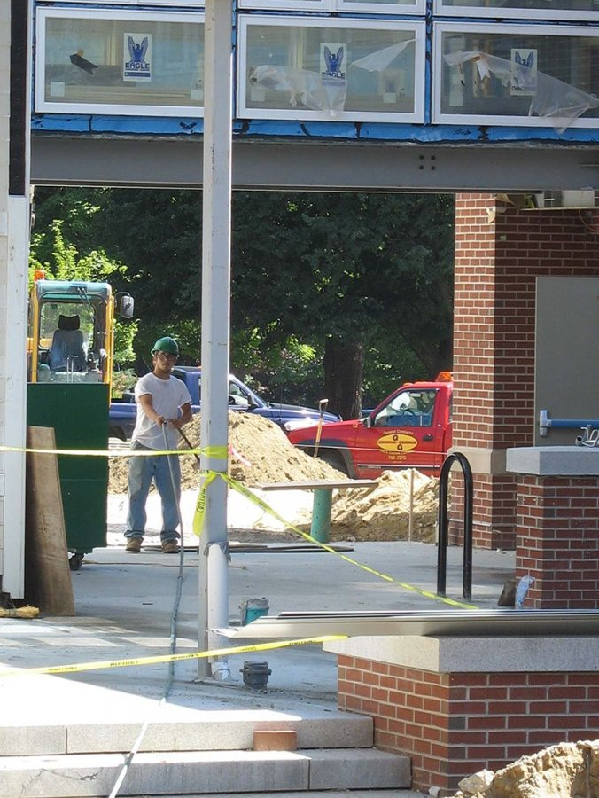 Site work at the student residence. (Doug Hubley/Bates College)