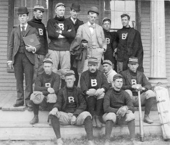 The 1892 Bates baseball team posted a 7–1 record en route to the state title. (Muskie Archives and Special Collections Library)
