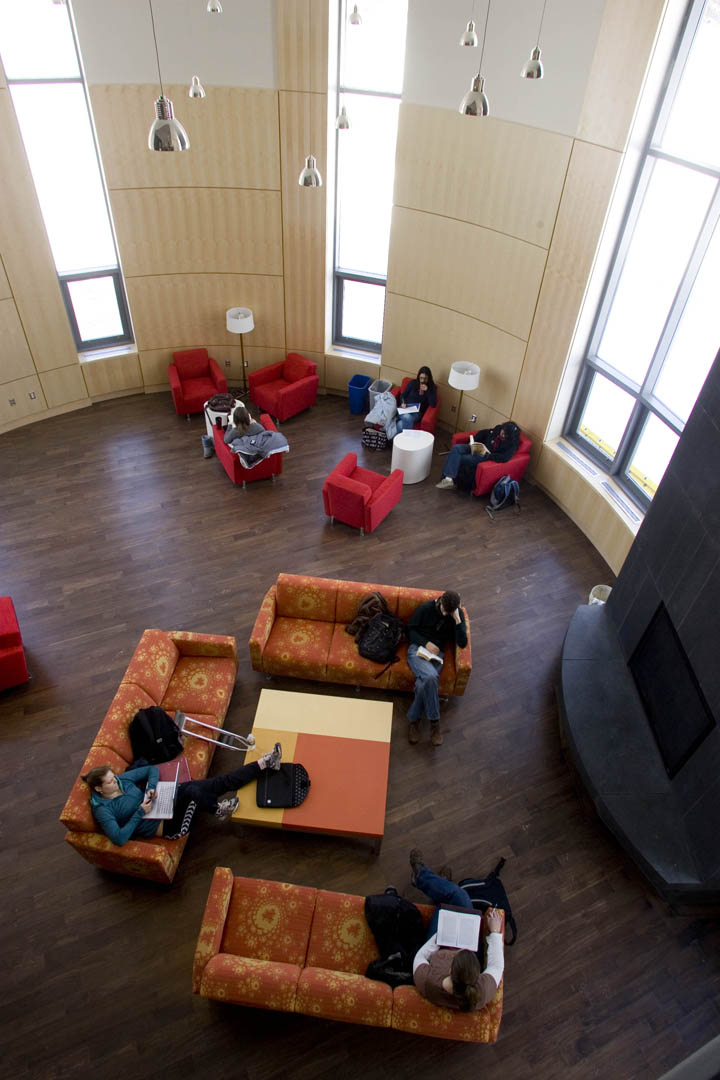 Campus construction update dining commons opens news bates college the fireplace lounge seen from the overlook teraionfo