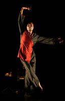 FNB Dance Umbrella. Prog. 22. University of Johannesburg Arts Centre. 14March2007. ' Beautiful Me' choreographed and performed by Gregory Vuyani  Maqoma.               Photograph  : John Hogg.