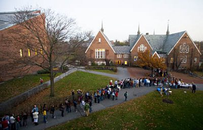 Harvest Meal line at Old Commons in 2007