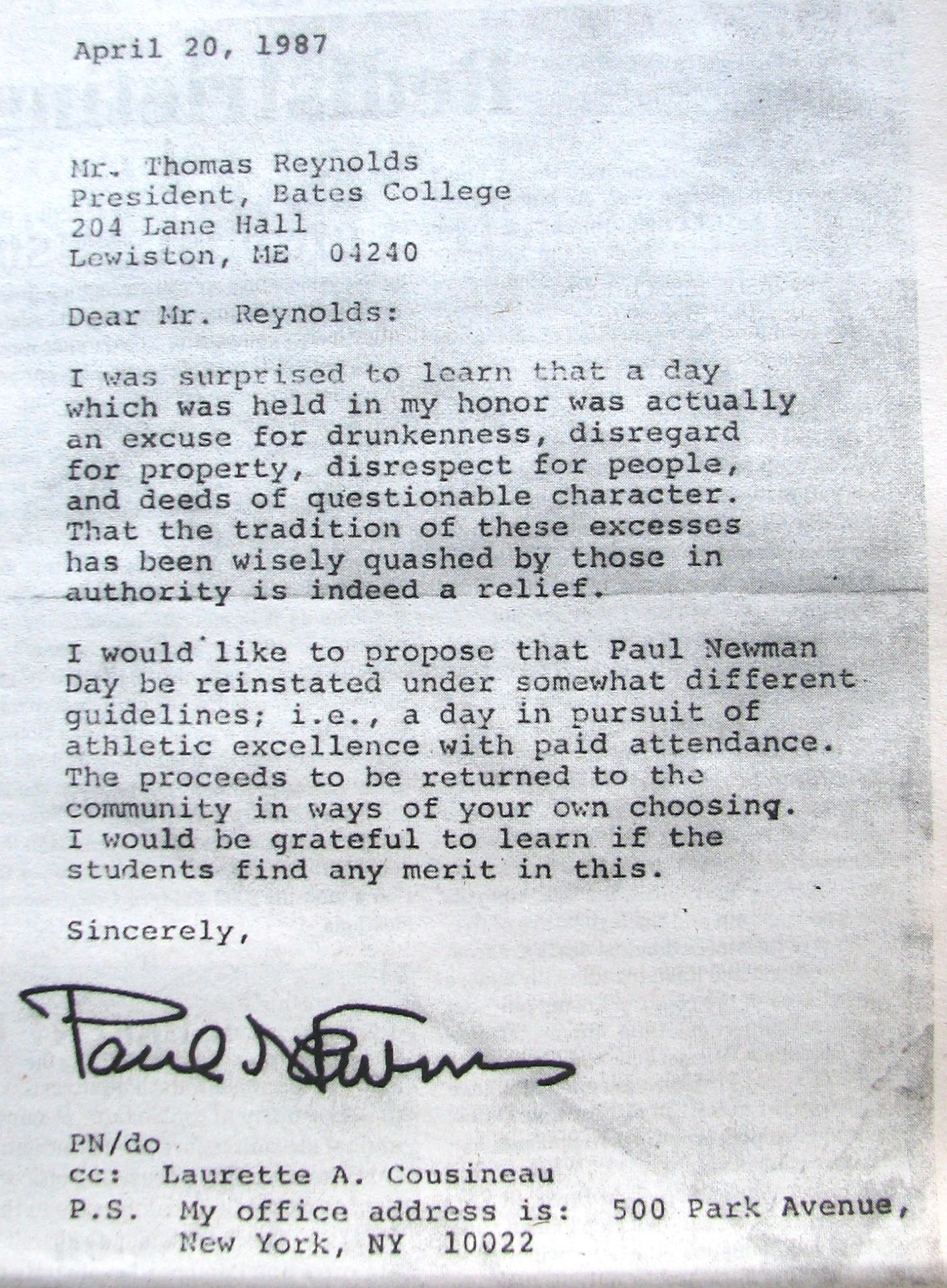 Newmans own letter news bates college newman letter in student jan 16 20013117 spiritdancerdesigns Gallery
