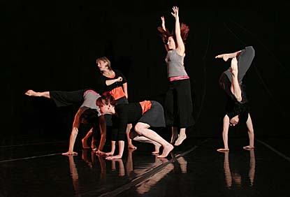 Members of the Massachusetts-based troupe Weber Dance perform at Bates on Saturday.