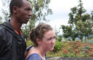 In country, each Bates student was paired with an member of Tubeho. Together, they negotiated how to move forward with interviews and oral histories. Pictured here are Innocent Micomyiza and Morgan Lynch '10.
