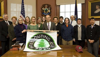 Alumni are invited to join students, faculty, and staff as the 90th Anniversary of the Bates Outing Club is honored by the Maine Legislature with a Legislative Sentiment  Tuesday, January 26, 2010 Maine State House Augusta  9:30 a.m. Meet at the Welcome Center At the public entrance to the State House ask the receptionist to direct you to the Welcome Center.  9:45 a.m. Photo opportunity with Gov. John Baldacci  10 a.m. Reading of the sentiment in the House Gallery by state Rep. Margaret Rotundo (D-Lewiston).  After the reading, the group will continue on to the Senate where they will receive further recognition.  11 a.m. Chief Justice of the Supreme Court addresses the Legislature  A brief tour of the State House will follow for those interested.   Advance registration is required for this event.   Please RSVP by noon on Monday, January 25. T o register click on the registration button on the top of this page or call Kathleen Bilodeau at (207) 755-5990.   Contact Information Primary Contact Kathleen Bilodeau 207-755-5990 kbilodea@bates.edu     Date & Location Date: January 26, 2010 Time: 9:30 AM Location: Maine State House Augusta