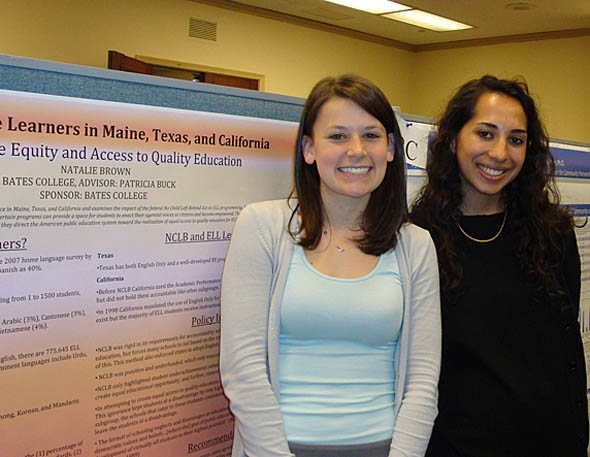 Natalie Brown and Mariam Alam at Posters on the Hill