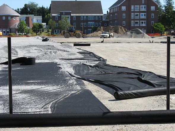Geotextile at Garcelon Field