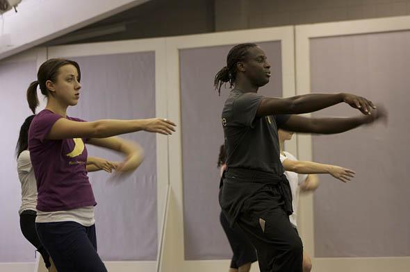 Sarah O'Loughlin '11 rehearses