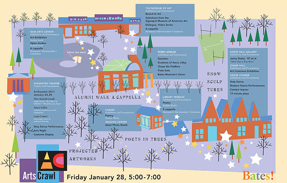 Arts Crawl map