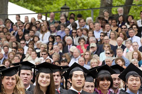 Graduates listen