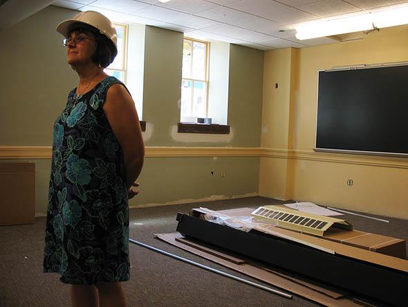 Doris Vincent in Roger Williams Hall
