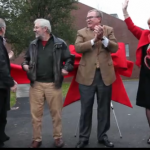 Video: Ribbon cutting dedicates Hedge and Roger Williams halls