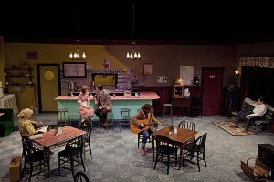 "The production of William Inge's ""Bus Stop,"" directed by Martin Andrucki, features a beautiful 1950s era set by Christine McDowell."