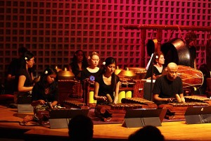 The Bates Gamelan Orchestra in a March 2011 performance.