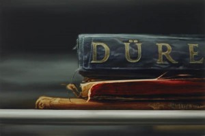 """The Metropolitan Museum of Art Library (Dürer),"" a 2006 oil painting by Xiaoze Xie."