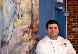 Matt O'Neill '00 is the chef and owner of the Blue Ox in Lynn, Mass. Photo by Terry Date.