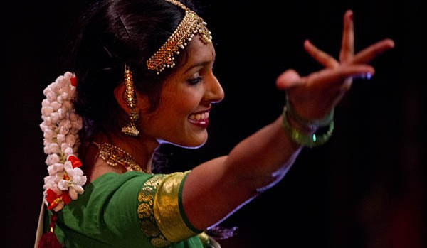 "Ramya Ghantasala '15 performs the Bharatha Natyam dance ""Thillana."""