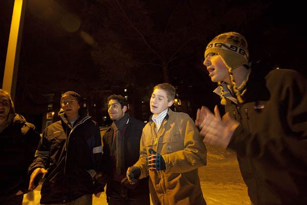 The Deansmen perform during the 2011 Arts Crawl at Bates.