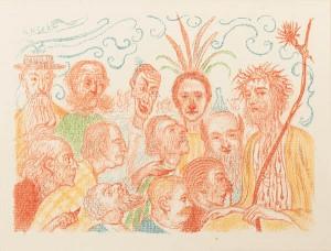 """""""XiX Le Christ livre aux critiques"""" by James Ensor."""