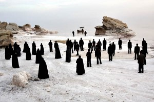 "An unforgettable scene from Iranian director Mohammad Rasoulof's 2009 film ""The White Meadows."""