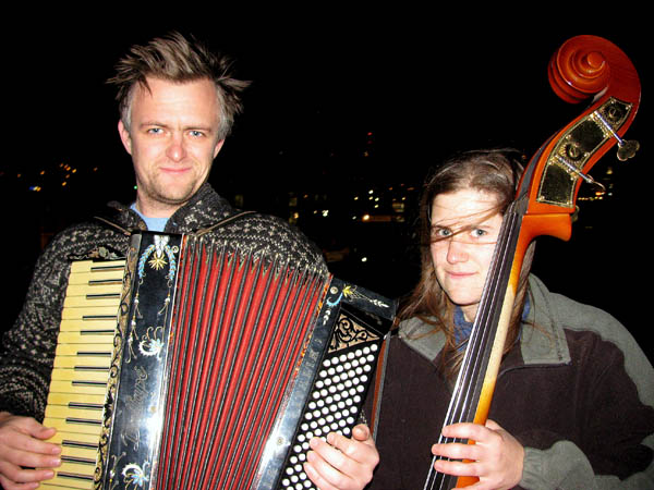 The Maine duo Cinder Conk plays music from the Balkans and elsewhere in Eastern Europe.