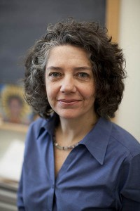 Melinda Plastas, visiting associate professor of women and gender studies. Photograph by Phyllis Graber Jensen/Bates College.