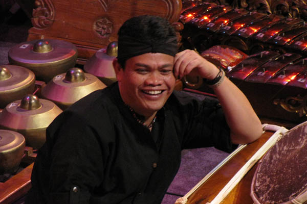 Indonesian drummer-composer Wahyu Roche.