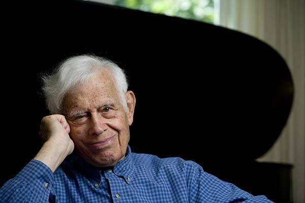 Pianist Frank Glazer in 2006. Phyllis Graber Jensen/Bates College.