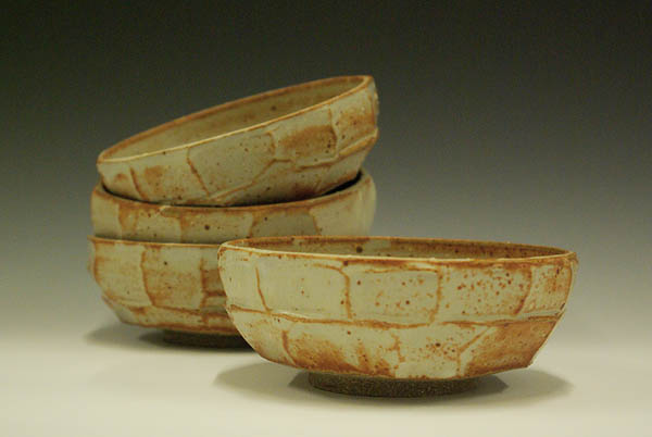 Stoneware bowls, reduction fired, by Catherine Elliott '12.
