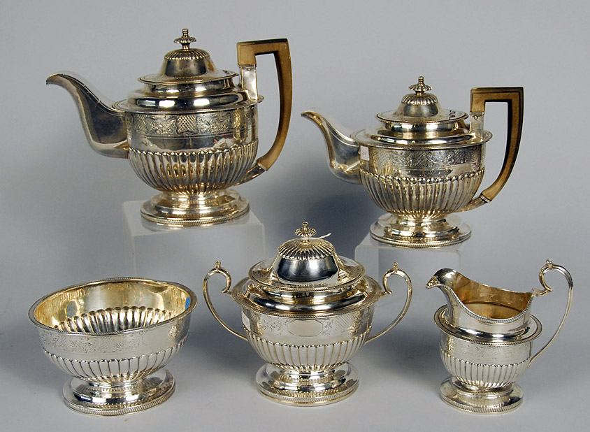 Peter Gomes '65 used this early 19th-century silver tea service to offer his famous Wednesday afternoon teas at Sparks House.
