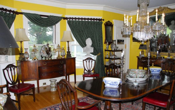 The dining room inside Oceanside, Peter Gomes' home in his beloved hometown of Plymouth, Mass.