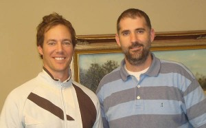 """Warrior Road"" co-producer Doug Coupe '92, at left, and writer Brad Jayne."