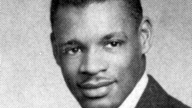 Nate Boone's yearbook photo in the 1952 Mirror