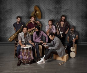 Red Baraat brings 'bhangra' and brass to the Olin Concert Hall stage.