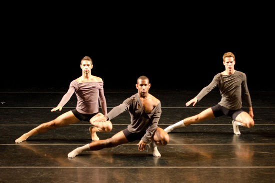 Students perform during the Bates Dance Festival. Photograph by Arthur Fink.
