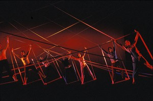 "Bates dancers perform Alwin Nikolais' ""Tensile Involvement"" in 2004. Photograph by Phyllis Graber Jensen/Bates College."
