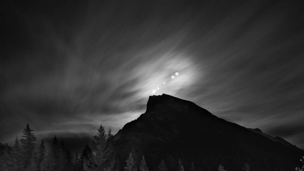 """Night Sky Over Banff, Alberta,"" is a photograph by Sharon Harper in the Bates College Museum of Art exhibition ""Starstruck."" Harper speaks about her work on Oct. 27."