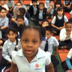 Video: First-graders give a 'Bates Bates' cheer