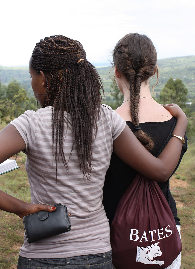 "An image from the 2009 Bates visit to Rwanda for the course ""Learning with the Orphans of the Rwanda Genocide."""