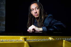 Jazz pianist Gerald Clayton performs at Bates on Oct. 3. (Emra Islek)