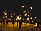Fire on the mountain, thanks to Outing Club sky lantern launch