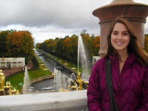 Isabel Makman '14 at the Peterhof Palace in St. Petersburg, Russia.