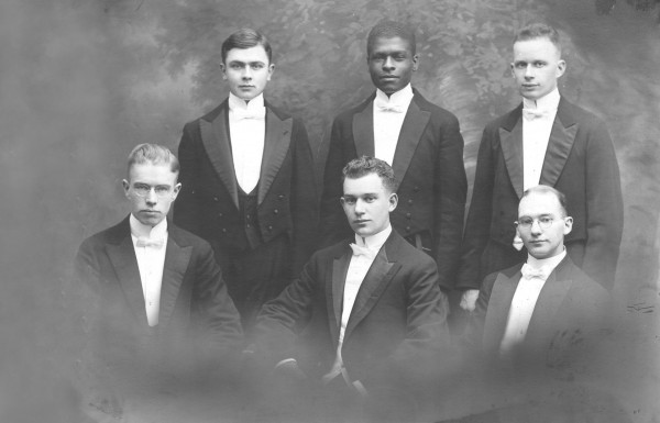 "Mays and his 1919 debate teammates. Mays' drive to succeed academically came from wanting to prove ""that superiority or inferiority in academic achievement had nothing to do with color of skin,"" he wrote in Born to Rebel.  Muskie Archives and Special Collections Library"